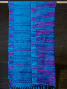 Tibetan Blankets in Blue & Violet Colours