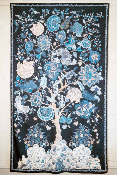 Blue Tree of Life Curtain