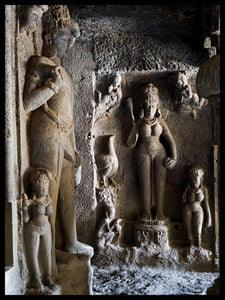 Bodhisattva and Female Figures, Entrance to Cave 11, Ellora