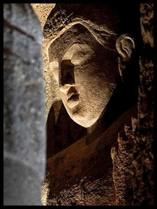 Head of the Buddha, Cave 4, Ajanta