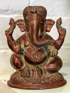 Copper Coloured Ganesh Statue