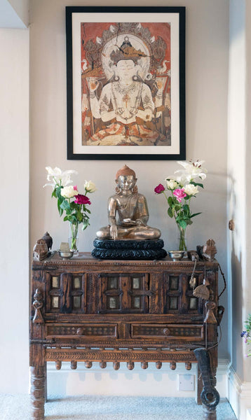 Framed Avalokiteshvara painting
