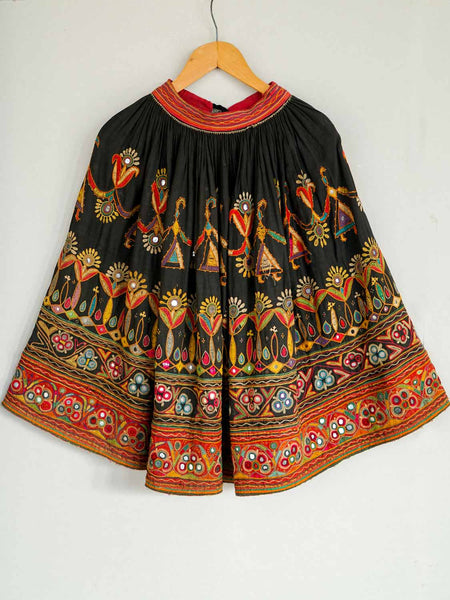 Embroidered Vintage Ghargra Skirt from Gujarat1