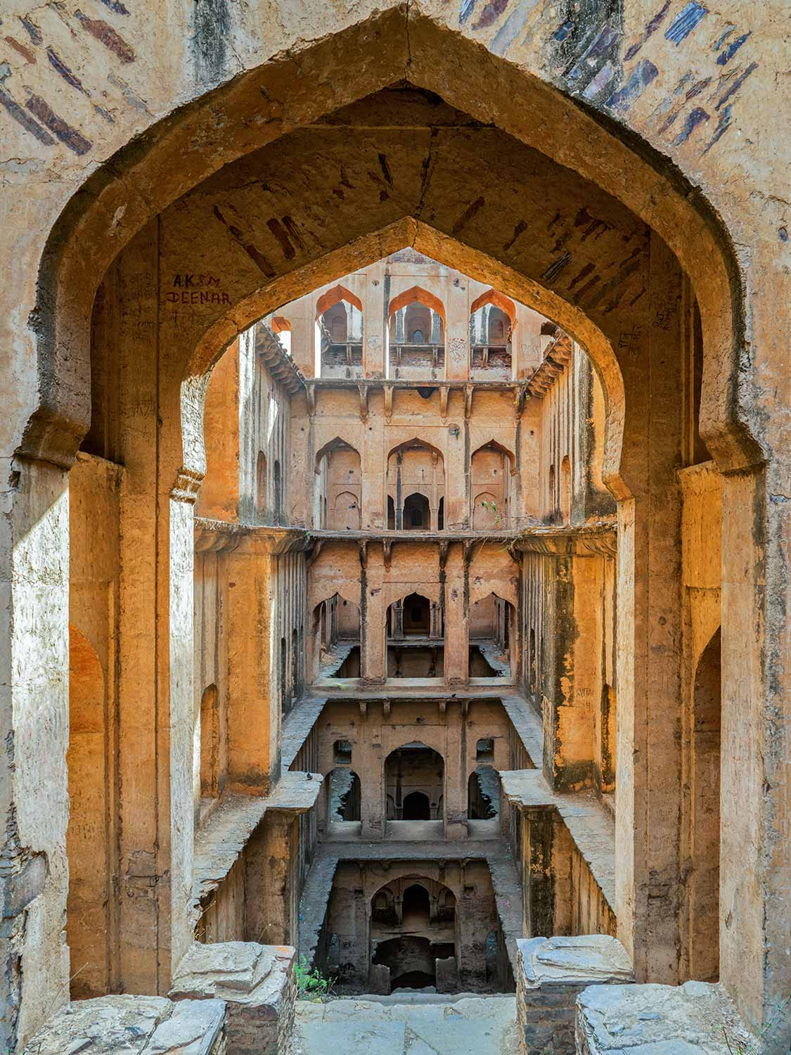 Neemrana Stepwell, Early Morning, Rajasthan
