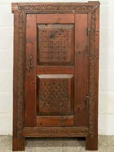 Carved Wooden Armoire from Afghanistan