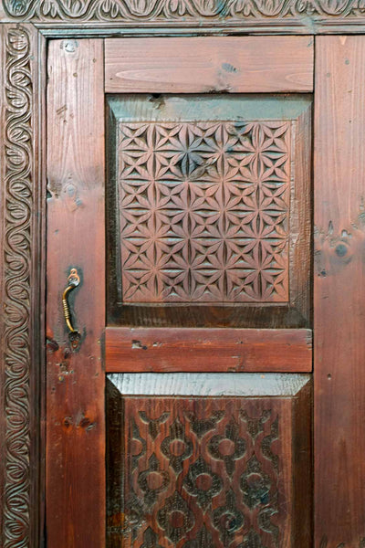 Carved Wooden Armoire from Afghanistan 1