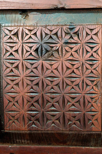 Carved Wooden Armoire from Afghanistan 2