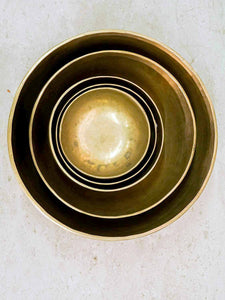 Five sizes of Tibetan Singing Bowls