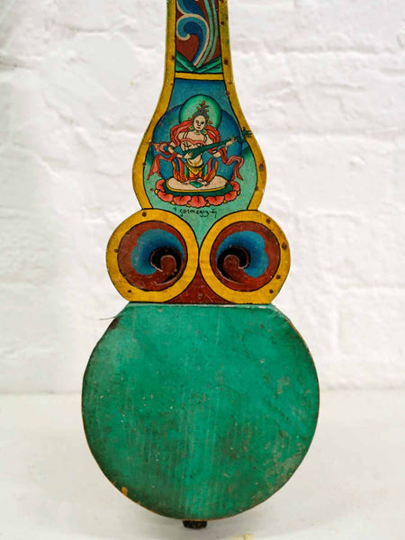 Decorative Painted Bhutanese Lute