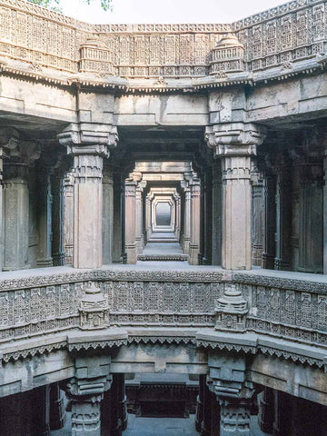 Carved Balconies and Corridor at the Dada Hari Vav portrait