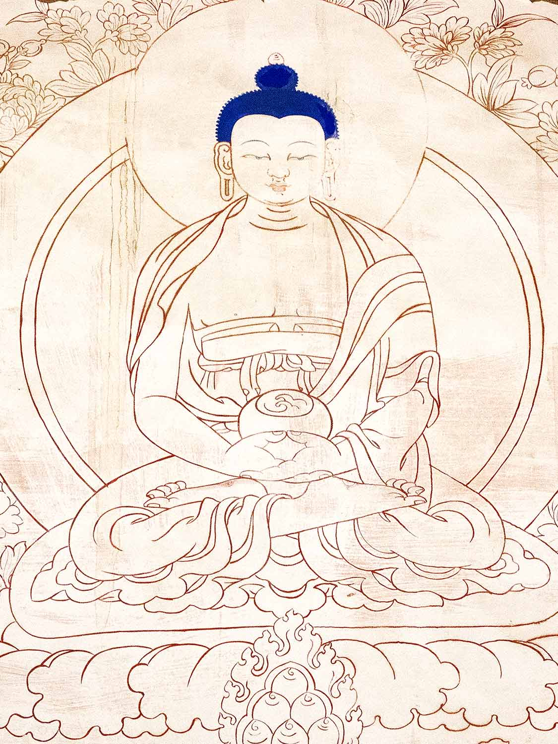 Drawing of the Buddha at Samye