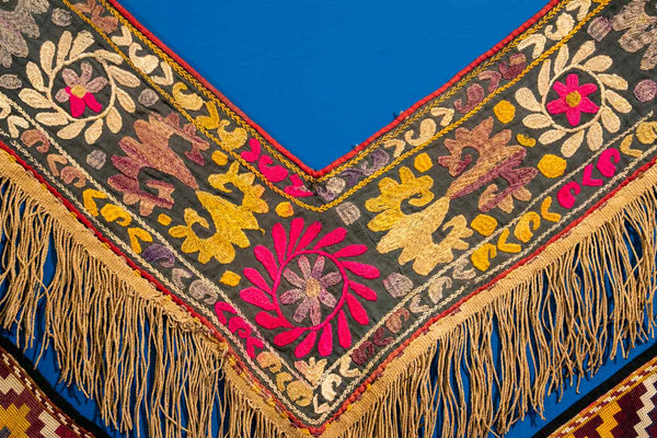 Floral Embroidered Saye Gosha from Afghanistan