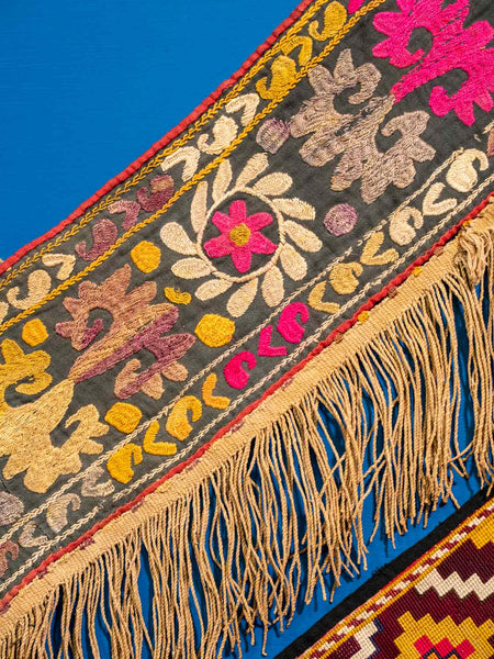 Floral Embroidered Saye Gosha from Afghanistan detail