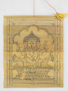 Ganesh Engraving on Palm Leaf