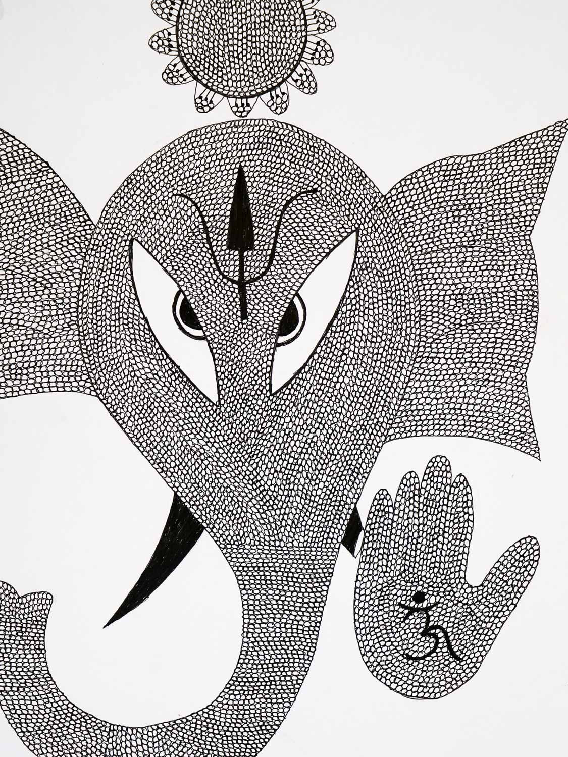 Gond Painting of Ganesh