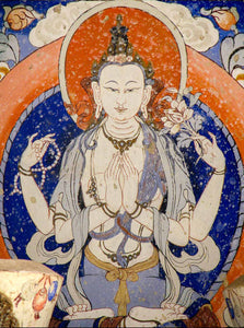 Photo of an Avalokiteshvara Painting in Leh valley, Ladakh, India