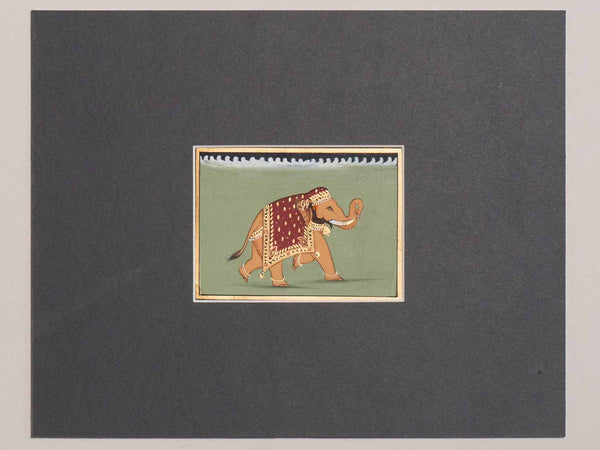 Indian Miniature Painting of a Sandy Elephant