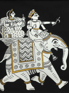 Indian Phad Painting | Elephant and Riders