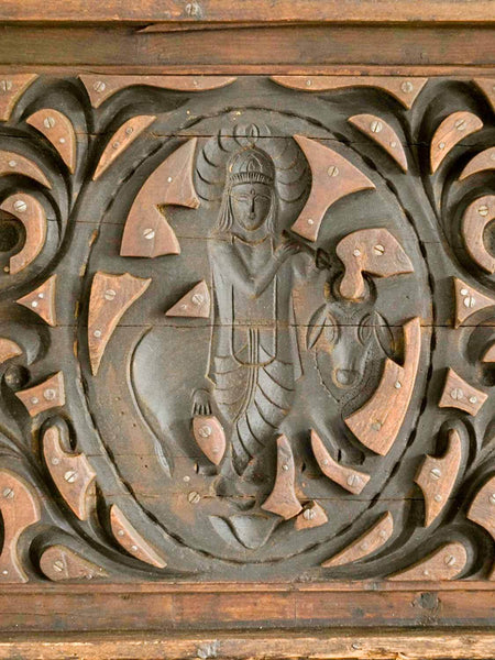Krishna in the Forest - Carved Wooden Mould