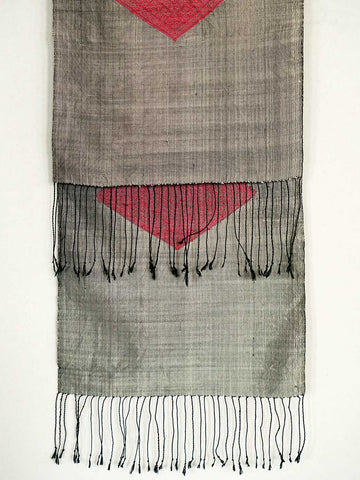 Silver and Rose Coloured Pha Tung | Wallhanging