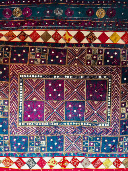 Large Embroidered Wallhanging from Gujarat
