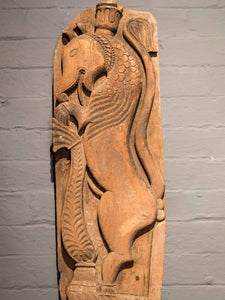 Large Carved Indian Makara Mythical Sea Creature