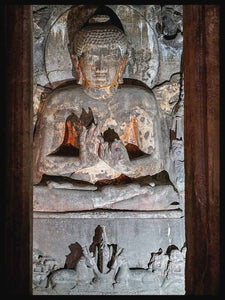 Buddha teaching in the deer park, cave 2 Ajanta