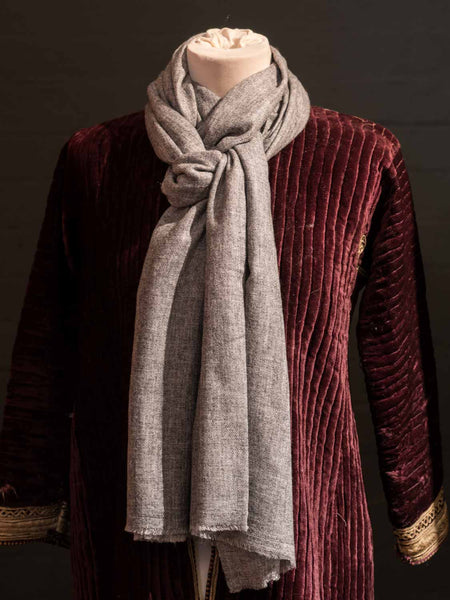 Mid Grey Cashmere Scarves