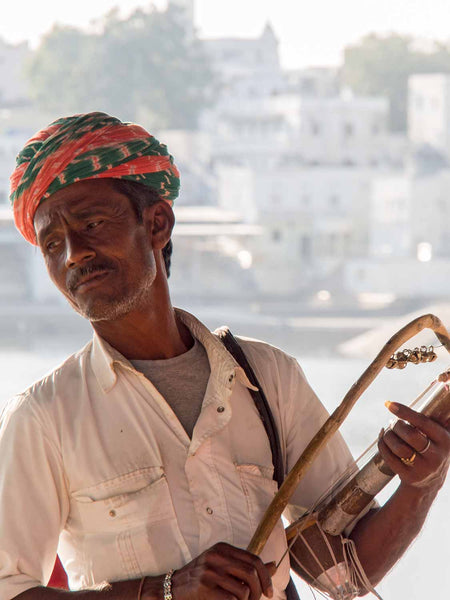 Photo of a Musician at Pushkar, Rajasthan