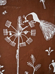 Warli Painting of Village and Childbirth 5