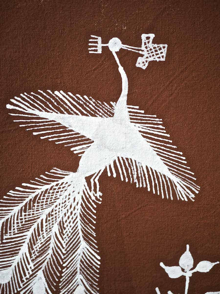 Warli Painting of Village and Childbirth 7