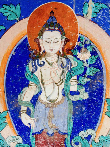 Green Tara Painting, Leh valley, Ladakh