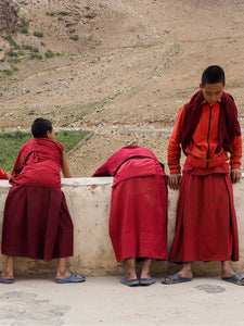 Young Monks Waiting for Prayers | Zanskar | Photos of Ladakh 1