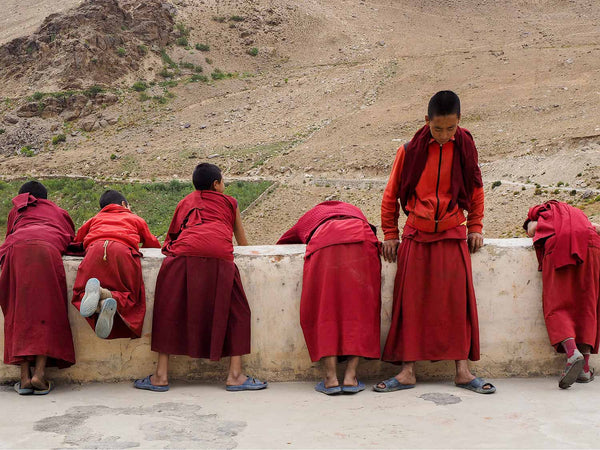 Young Monks Waiting for Prayers | Zanskar | Photos of Ladakh