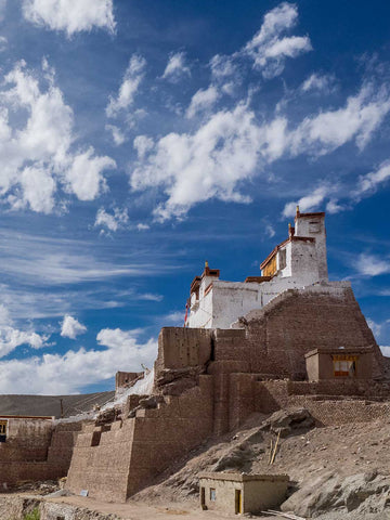 Photo of Basgo Monastery and Blue Sky, Ladakh, India
