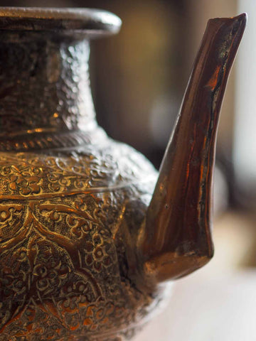 Old Repousse Copper Kettle from Afghanistan 1