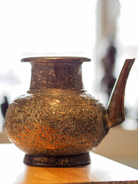 Old Repousse Copper Kettle from Afghanistan 3