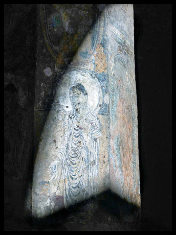 Sunlight on the Buddha, Cave 10 at Ajanta.