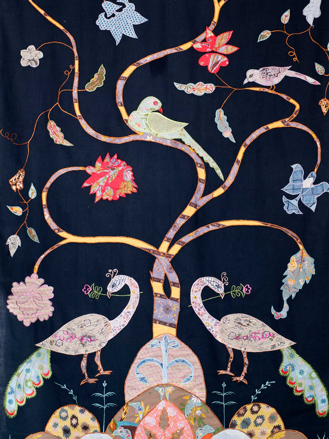 Peacock Curtains Navy