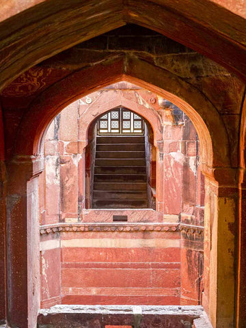 Red Arches of the Octagonal Stepwell, Fatepur Sikri