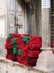 Bundles of Red Cloth, Nighttime in Ahmedabad | Photos of India