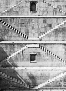 Black & White photo of Sagar Kund stepwell in Bundi