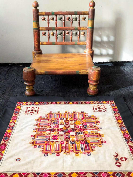Geometric Embroidered Chakla from Gujarat