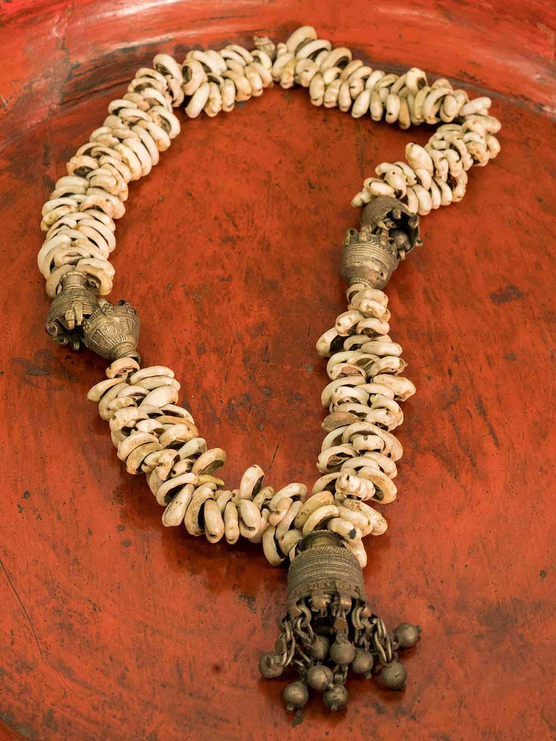 Vintage Cowrie Shell Indian Necklace