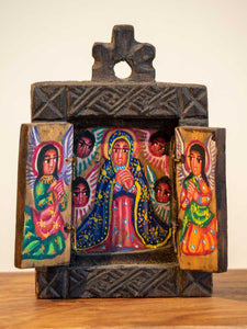 Small Painted Wooden Icon from Ethiopia