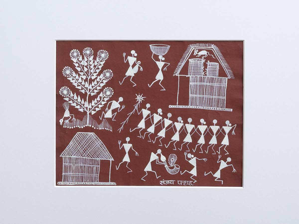 Stealing Mouse | Warli Painting