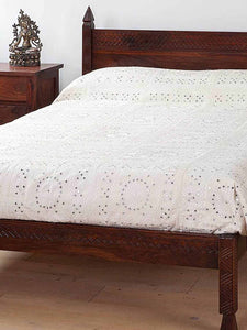 Kandahar Carved Indian Bed