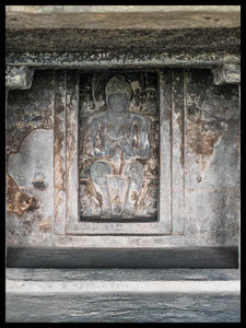 Seated Teaching Buddha, Cave 11, Ellora,  India