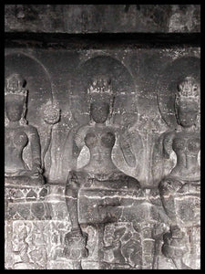 Three Green Tara Statues, Ellora Caves