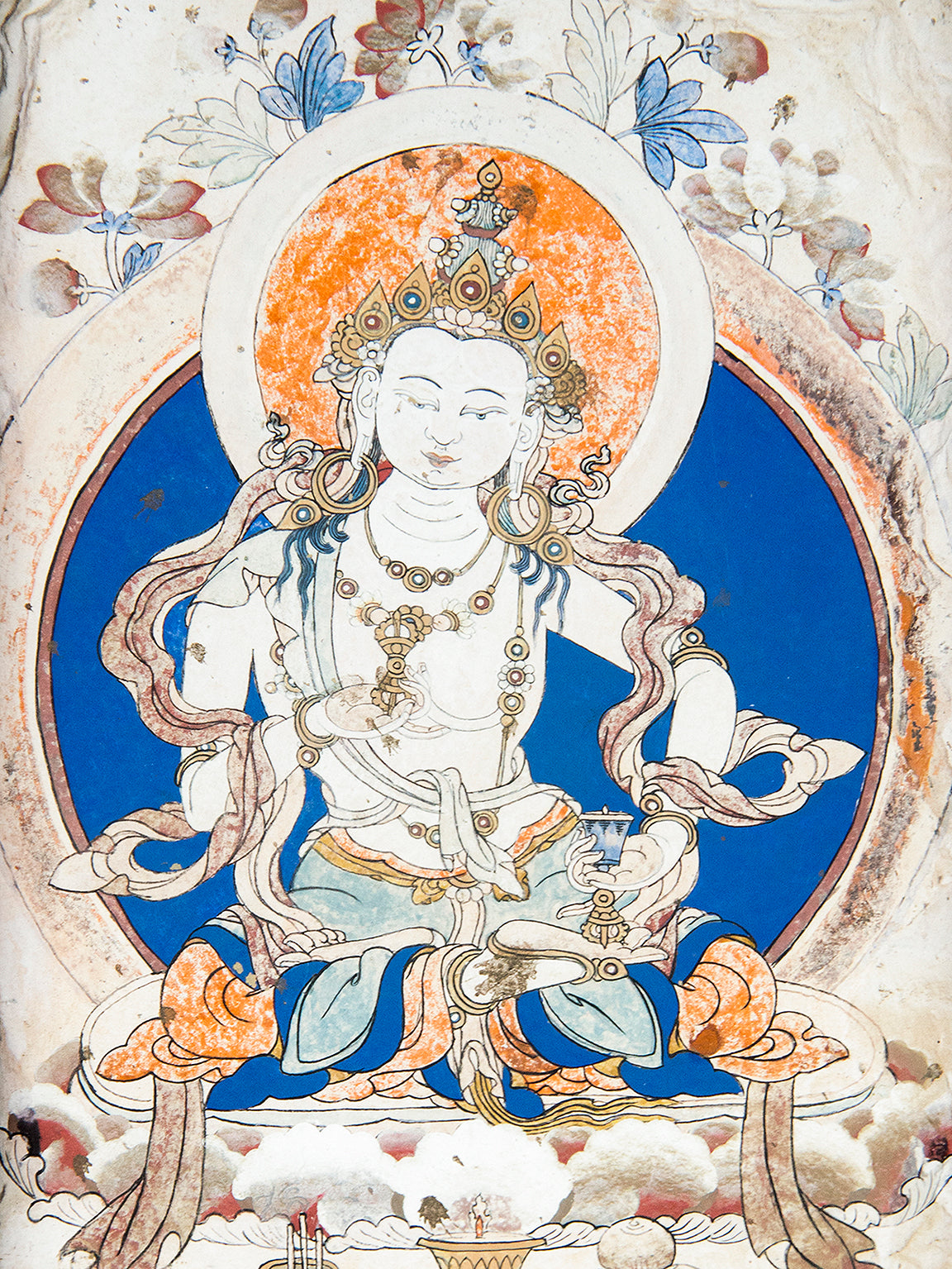 Painting of Vajrasattva at Samye | Photos of Tibet